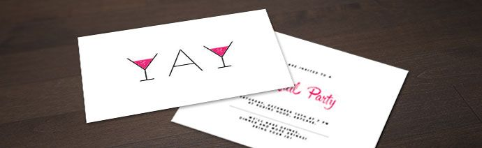 Personalise your invitation cards