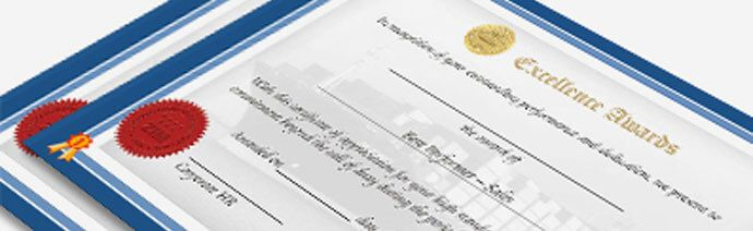 Make Employees feel special with PrintStop's Certificates