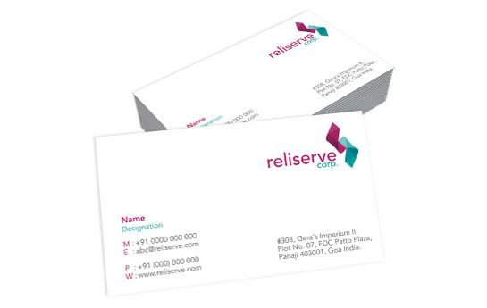 One Sided Visiting Card Sample