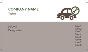 Automobile Visiting Card 8