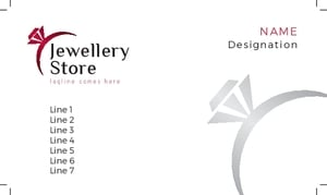 Jewellery Visiting Card 4