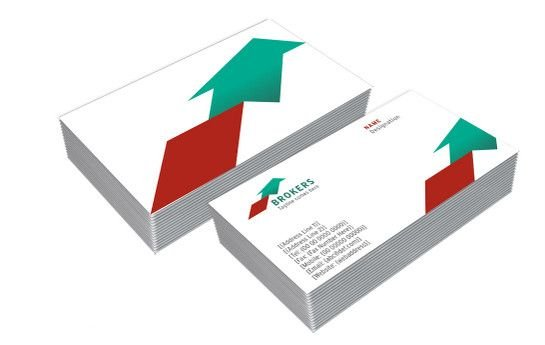 Print high quality custom double sided business cards at best price double sided business card template reheart Images