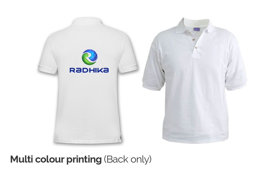 custom multicoloured t shirt printing online india