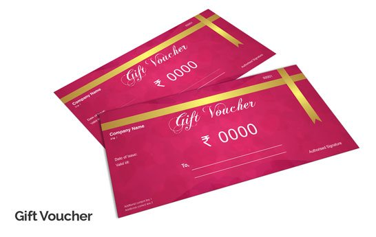 custom printed gift certificates