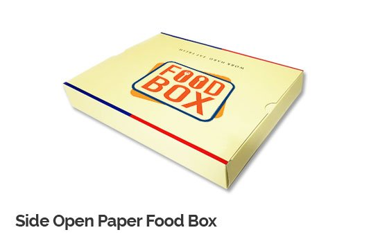 Side Open Paper Food Box